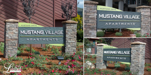 Mustang Village Monument Sign