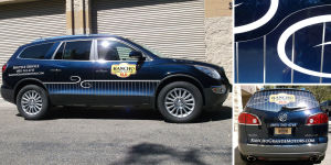 Vehicle graphics lola red design group for Rancho grande motors in san luis obispo